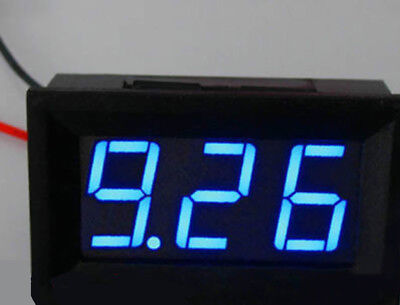 US Stock Mini Blue LED Digital Panel AMP Meter Gauge 50A DC & Shunt