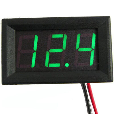 US Stock Mini Green LED Digital Panel AMP Meter Gauge 50A DC & Shunt