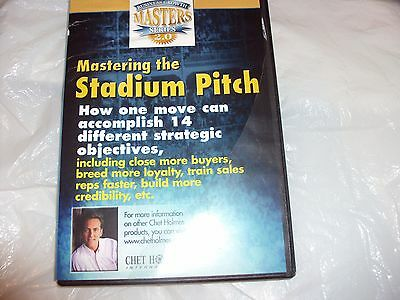 mastering the stadium pitch,chet holmes,dvd only