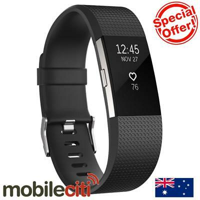 Fitbit Charge 2 Heart Rate + Fitness Wristband Large - Black