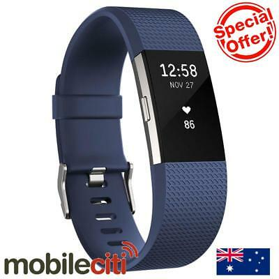 Fitbit Charge 2 Heart Rate + Fitness Wristband Large - Blue
