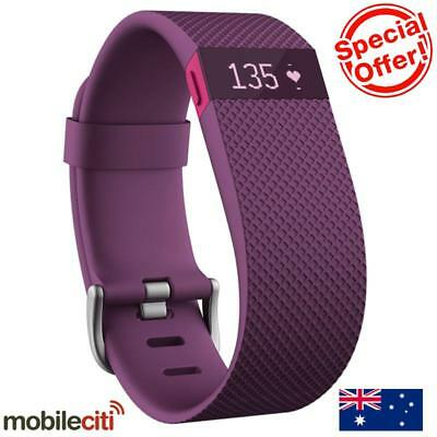 Fitbit Charge HR Heart Rate Activity Wristband Plum - Large