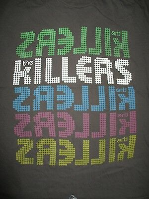 "2009 The KILLERS ""DAY and AGE"" World Concert Tour (XL) T-Shirt BRANDON FLOWER"