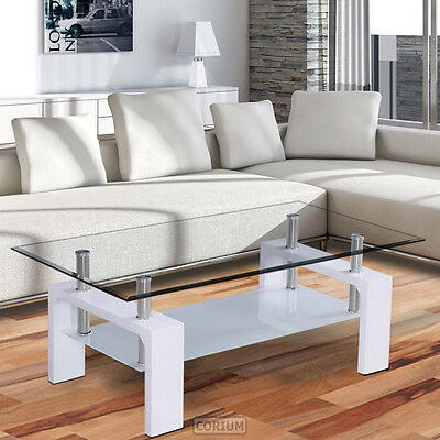 Corium Coffee Table Table Glass Table White Side Table Living Room High Gloss