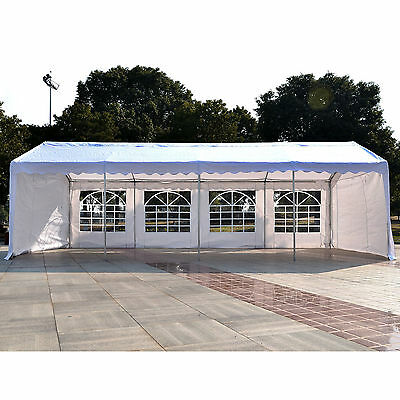 Outsunny 13'x26' Carport Gazebo Party Tent Outdoor Patio Canopy Sidewall Doors