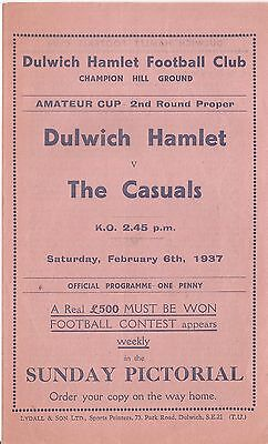 Dulwich Hamlet v The Casuals - 1936-7 - Amateur Cup