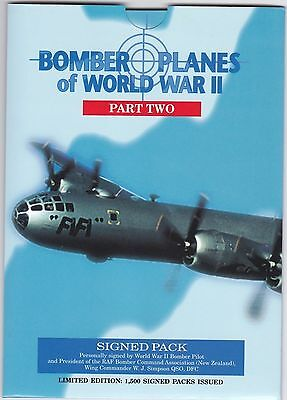 1995 Bomber Planes Of Wwii Part Two Signed Pack $20 Phonecards