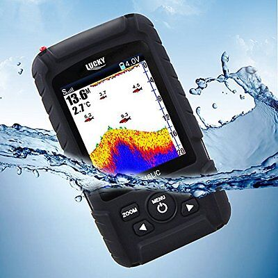 Colorful LCD Display Wireless Sonar&Wired Transducer Fish Finder 100 Metre Range