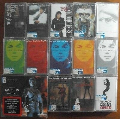 Michael Jackson Thai Release 15 Cassettes 10 Titles Seal OOP Extremely rare