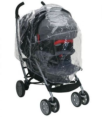 Pushchair/Travel System Universal ZIPPED Raincover fits Graco, Silver Cross 3D