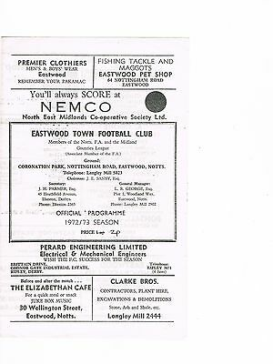 Eastwood Town v Alfreton Town 72/3 Midland Counties League 4 page
