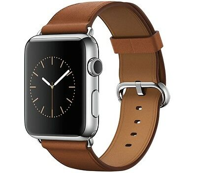 Apple Watch 38mm MLCL2B/A Stainless Steel Case Brown Small Classic Buckle