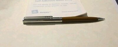 Vintage 1970S Papermate Powerpoint Chrome &  Brown Propelling Pencil