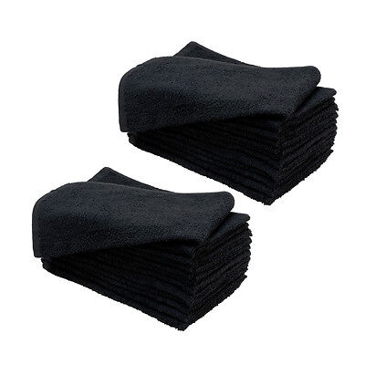 Sydney Salon Supplies 100g BLACK Towels 100% Cotton Hair/Barber/Beauty/Gym 40x67