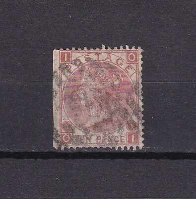 GB VICTORIA 10d BROWN (28A) USED