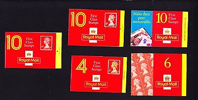 Gb Collection Of Five Booklets 40 First Class Stamps Face Vanue £25