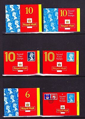 Gb Collection Of Six Booklets 50 Second Class Stamps Face Value £27