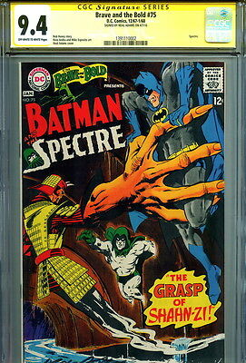 1968 CGC SS 9.4 SIGNED Neal Adams Art DC Brave And The Bold #75 Batman & Spectre