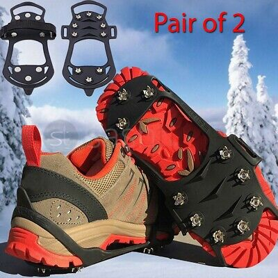 Snow Crampons Anti Slip Ice Cleats Grippers Boots Shoes Overshoe Large - X-Large