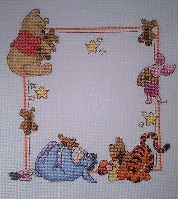Personalised Completed Cross Stitch Baby Birth Sampler