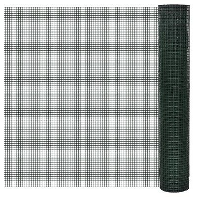 #sNEW Square Wire Netting 1 m x 10 m PVC-coated  Mesh Size 16 x 16mm Wire Fencin