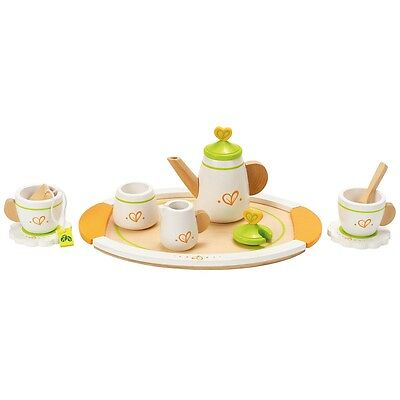 New Hape Wooden Tea Set for Two E3124 12 Pcs Age 3 Years+ Children Toy Role Play