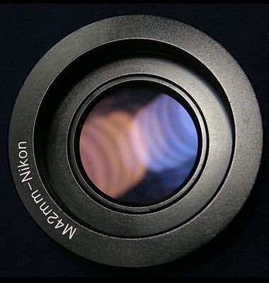 M42 lens to Nikon DSLR SLR camera F Mount Adapter ring With glass Infinity focus