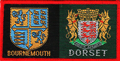 Boy Scout Double Badge BOURNEMOUTH East/DORSET red O/L
