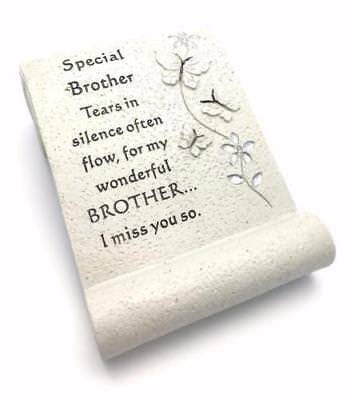Special Brother Butterfly Graveside Memorial Scroll Ornament DF12780J