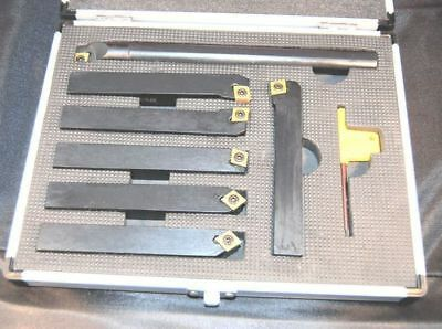Set of 7 SCT Indexable Carbide Lathe Tools 16 mm Shank  (Ref: 888207)