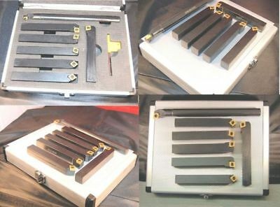 Set of 7 SCT Indexable Carbide  Lathe Tools 20 mm Shank  (Ref: 888208)