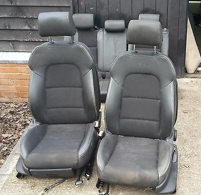 Audi A3 8P 2004 - 2012 5Dr S Line Set Of Half Leather Seats With Door Cards