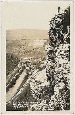 Lovers' Leap and the Narrows, Cumberland, Maryland RPPC