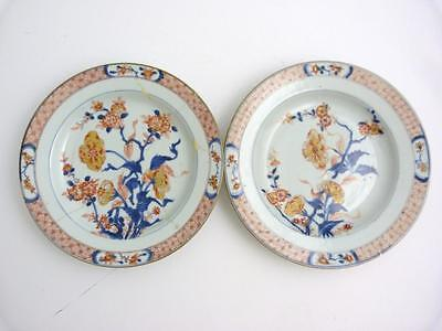 Pair Of 18Th Century Chinese Imari Porcelain Plates