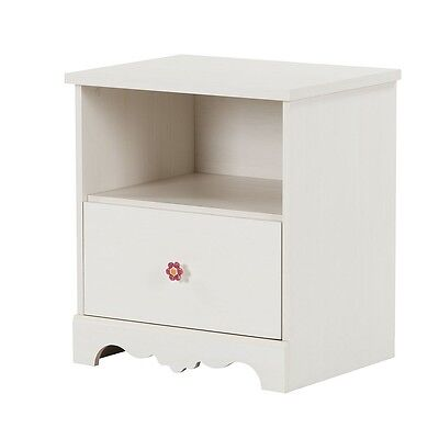 South Shore Lily Rose 1-Drawer Nightstand - White Wash