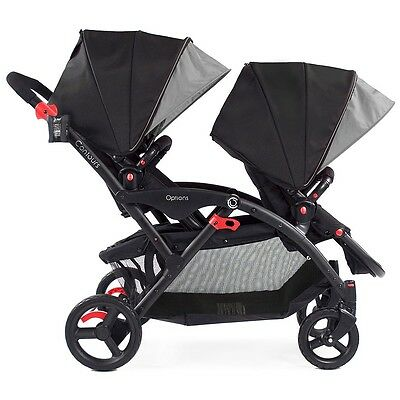 Contours Options Tandem Stroller - Black/Grey