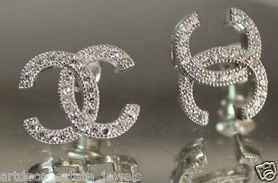 .925  Silver Round  CZ  Earring