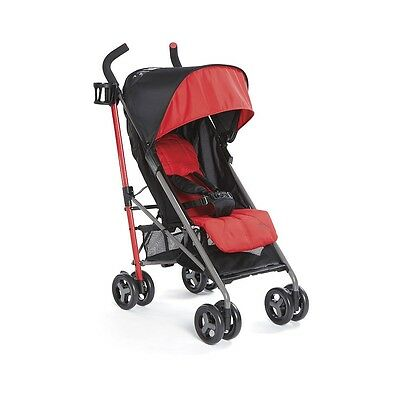 Zobo Bolt Umbrella Stroller - Red Hibiscus