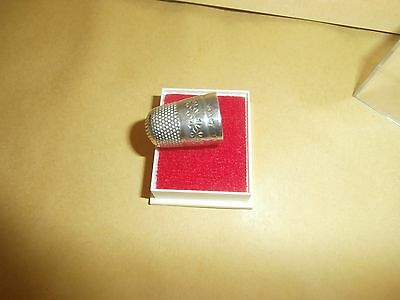 Antique silver thimble  leaf 9  pattern lot  3  in case as shown