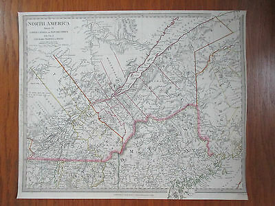 1832~Engraved Map~Hand Coloured In Outline~North America~Lower Canada~New York