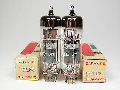 2 x NOS ECL82-6BM8-RFT GERMANY-OWN BOXES