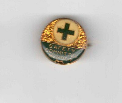 Vintage Safety Committee Pin Back Badge (Stokes) - Free Post