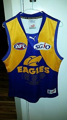 West Coast Eagles 1992 Premiers Footy Jumper. Adult Size M