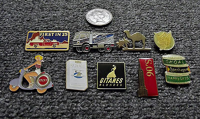 Job Lot 9 X Mixed Tobacco/smoking/cigarette Related Pin Badges