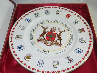 LIMITED ED CRICKET COUNTY CHAMPIONS PLATE Nottinghamshire 1987 Royal Grafton