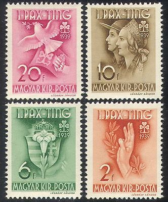 Hungary 1939 Girl Guides/Dove/Lily/Youth/Leisure/Birds/Flowers 4v set (n40324)