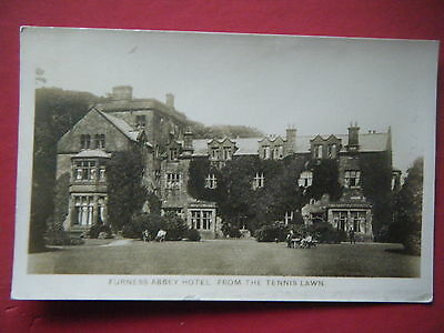 FURNESS RLY: FURNESS ABBEY HOTEL, VARIANT w/HANDSTAMP - SCARCE POSTCARD!