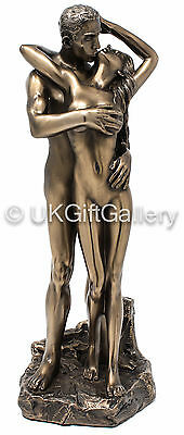 Standing Naked Lovers Entwined Nude Sculpture Erotic Statue Bronze NEW H1692E5