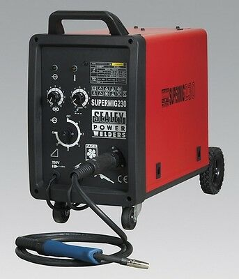 Sealey SUPERMIG230 Pro Mig Welder 230Amp 230V + Binzel Euro Torch Welding