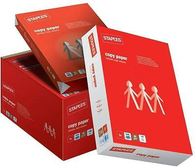 A4 White Office Copy Paper - Pack of 5 Reams (500 Sheets Per Ream) 80gsm Retail